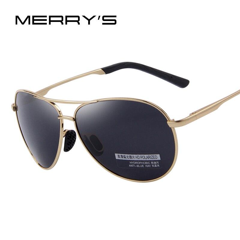 MERRY'S de los hombres de la moda es UV400 polarizado gafas de sol hombres conducción escudo gafas de sol