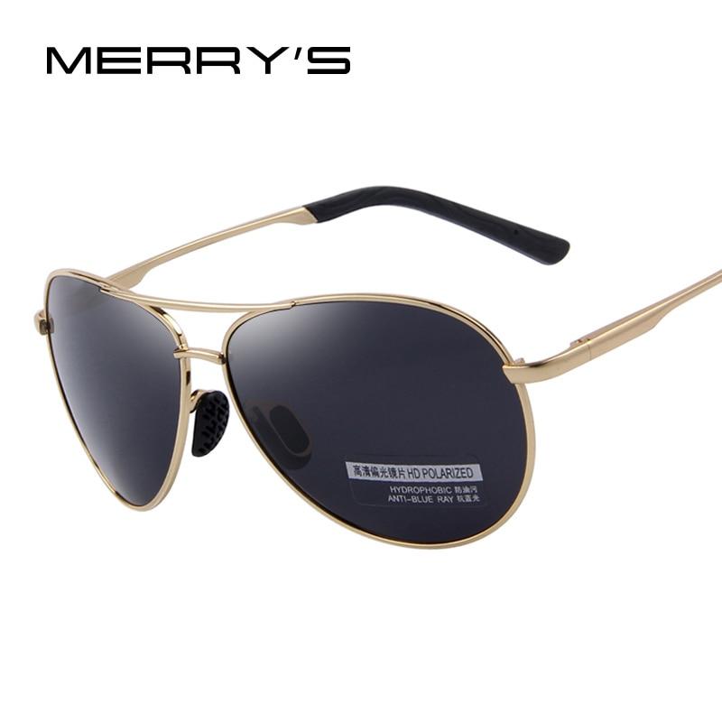 b1dd0d49cdc086 MERRY S Mode Hommes UV400 lunettes de Soleil Polarisées Hommes Conduite  Bouclier Lunettes de Soleil Lunettes