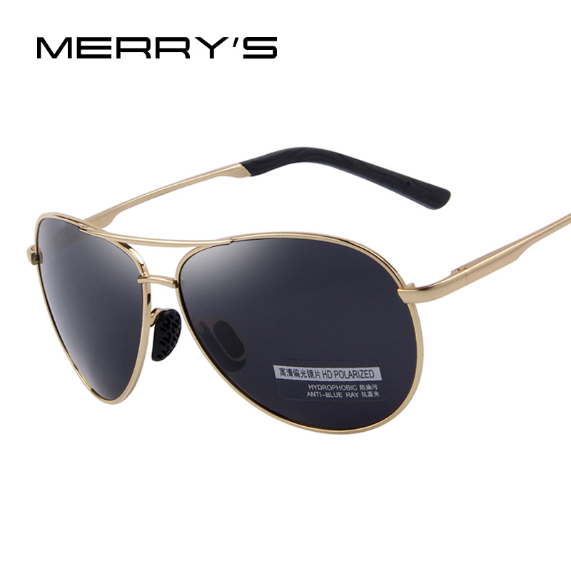 MERRYS Fashion Mens UV400 Polariserad Solglasögon Män Driving Shield Eyewear Sun Glasses