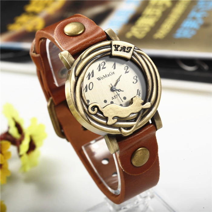 Leather Wristwatch Hight Quality Quartz Dial Women Watch Brown Red White Hour Dress Casual Watches Fashion Clock Hot Sale Reloj leather wristwatch hight quality quartz dial women watch brown red white hour dress casual watches fashion clock hot sale reloj