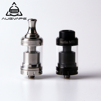 Augvape Merlin MTL 22MM RTA Atomizer Tank 3ML MTL Drip Tip Single Coil Deck Top Filling Vape Electronic Cigarette Atomizer
