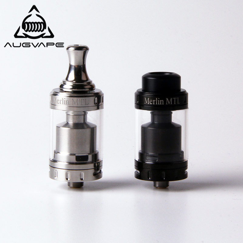 Augvape Merlin MTL 22MM RTA Atomizer Tank 3ML MTL Drip Tip Single Coil Deck Top Filling Vape Electronic Cigarette Atomizer augvape merlin rta tank atomizer 23mm 4ml single coil deck dual airflow vape vaporizer electronic cigarette atomizer tank
