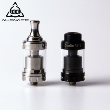 купить Augvape Merlin MTL 22MM RTA Atomizer Tank 3ML MTL Drip Tip Single Coil Deck Top Filling Vape Electronic Cigarette Atomizer в интернет-магазине