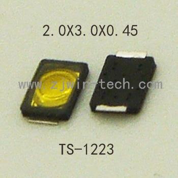 1000pcs/lot Ultra small 2X3X0.45MM 2PIN Ultra  low profile phone button tact switch  super tiny SMD TS-1223