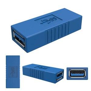 Image 5 - Niebieski 90 stopni w pionie lewego prawego w górę w dół pod kątem USB 3.0 męski na żeński konwerter M/F złącze adaptera