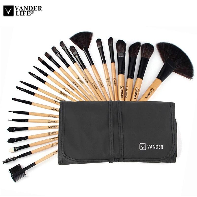 VANDER 24 pcs marque Brosses de Maquillage Professionnel Cosmétiques Brosse set de Haute Qualité Maquillage Ensemble Avec Cas Artiste maquillage Brosse outil