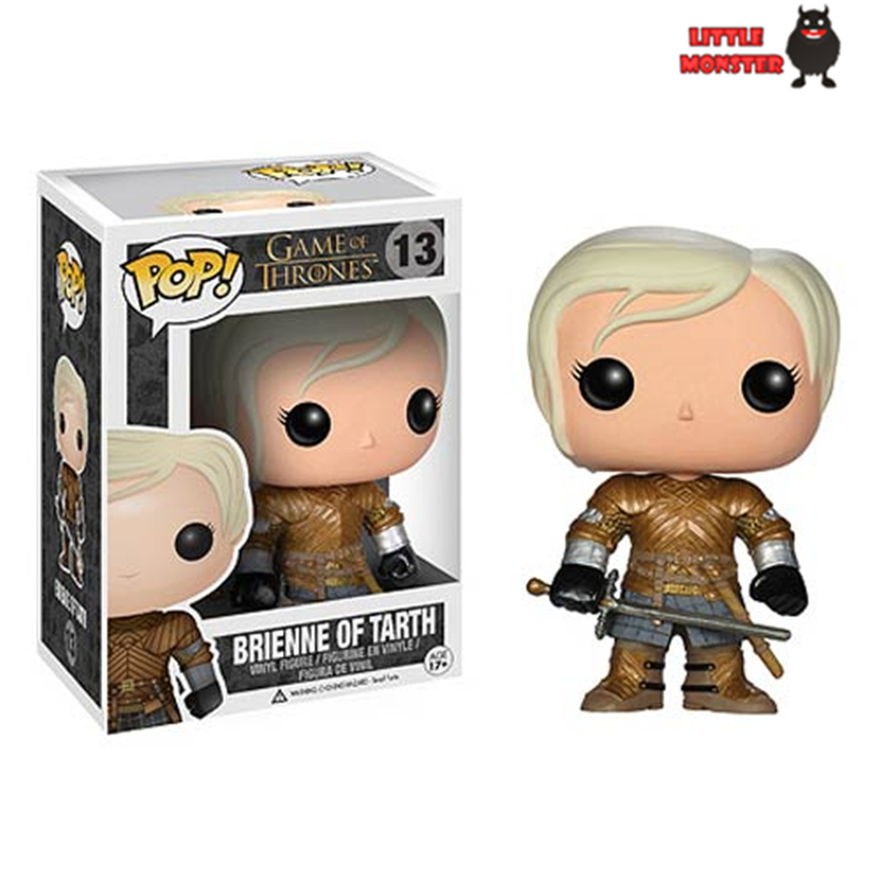 NEW2014 Genuine funko pop 10cm <font><b>Game</b></font> <font><b>of</b></font> <font><b>Thrones</b></font> <font><b>Brienne</b></font> <font><b>of</b></font> <font><b>tarth</b></font> <font><b>action</b></font> <font><b>figure</b></font> Bobble Head Q Edition new box for Car Decoration