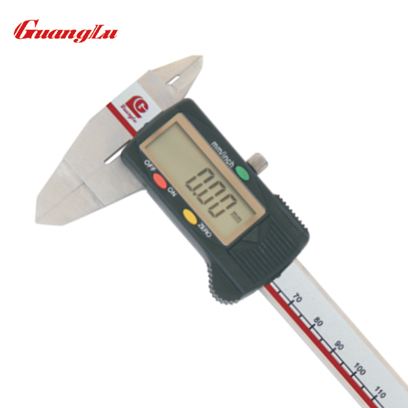 цена на GUANGLU Digital Caliper With Thin Jaws 0-150mm/6'' 0.01mm/inch Electronic Stainless Steel Micrometer Calipers Measuring Tools