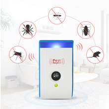 Средство для отпугивания комаров 1/2/4/6 шт в комплекте Ультразвуковой Отпугиватель вредителей с ночным светом нетоксичный репеллент AC90V-240V вредителями отклонить