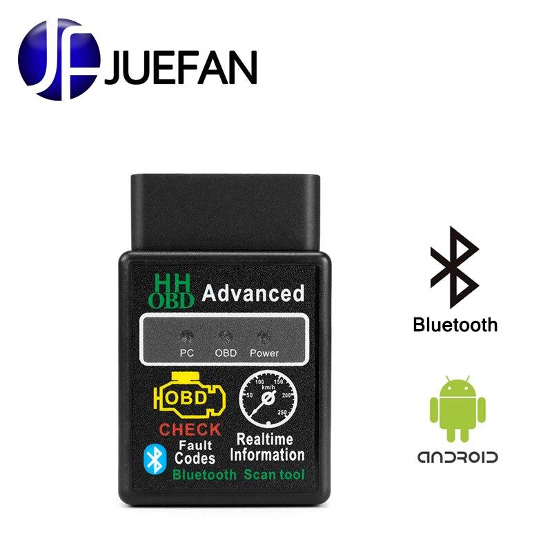 JUEFAN Bluetooth scanner voiture outil de diagnostic elm327 2.1 Version obd2 OBD II pour Android elm 327 De Voiture Auto Code Scanner easydiag