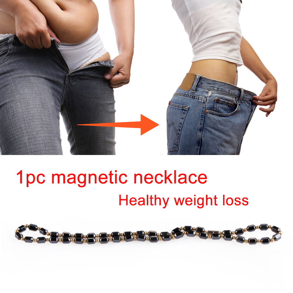 Jewelry Magnetic Necklace Hematite Slimming-Chain Lose-Weight Unisex For Acupoint-Massage