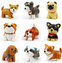 16Designs mini dogs Husky Corgi Pug Chow Chow fairy garden miniatures gnome moss terrariums decoration accessories for home