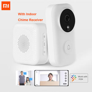 Xiaomi Zero Video Doorbell Set AI Face Identification 720P IR Night Vision Motion Detection SMS Push Intercom Free Cloud Storage