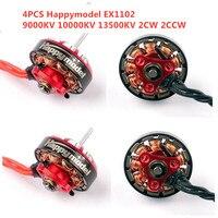 4PCS/Lot Happymodel EX1102 9000KV 10000KV 13500KV 2 3S Brushless Motor Original for Mobula7 HD RC Drone Spare Part DIY Accs