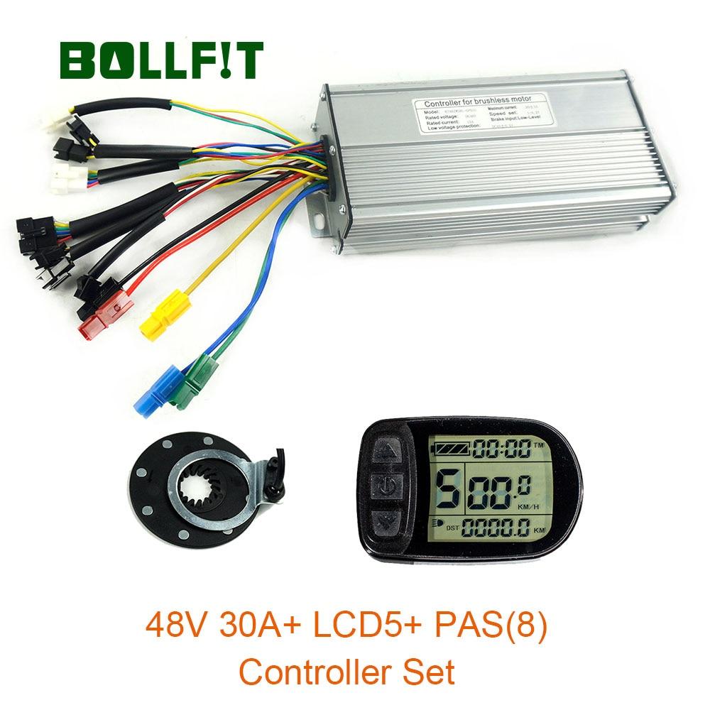 48V 1000W contrôleur LCD5 affichage mètre PAS ensemble e-bike Conversion Kit Hall capteur