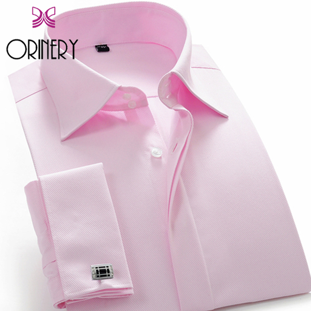 ORINERY 2017 Fall Fashion Designer French Cuff Dress Shirt Men Long Sleeve Camisa Masculina Brand Clothing With Cufflinks