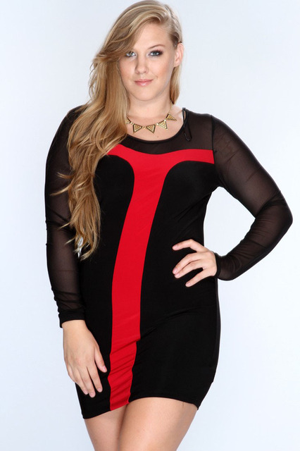 Free Shipping 2014 New Plus Size Net Club Clothing Wholesale Women
