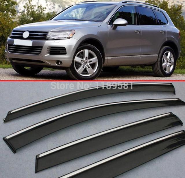 A janela Do Vento Defletor Visor Chuva/Sun Guard Ventilação Para VW Touareg 2011-2015