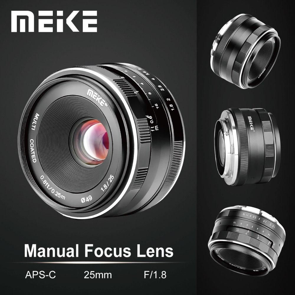 Meike 25mm F1.8 Grand Angle Objectif Manuel APS-C pour Fuji X-montage/pour Sony E Mont/ pour Panasonic Olympus Caméra A7 A7II A7RII
