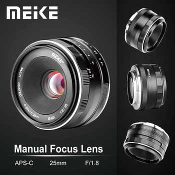 Meike 25mm F1.8 Wide Angle Manual Lens APS-C for Fuji X-mount / for Sony E Mount /for Panasonic Olympus Camera A7 A7II A7RII - DISCOUNT ITEM  25% OFF All Category