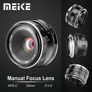 Image 1 - Đế Pin Meike 25 Mm F1.8 Góc Rộng Hướng Dẫn Sử Dụng Ống Kính APS C Cho Fuji X Núi/Dành Cho Sony E Mount/ cho Máy Panasonic Máy Ảnh Olympus A7 A7II A7RII