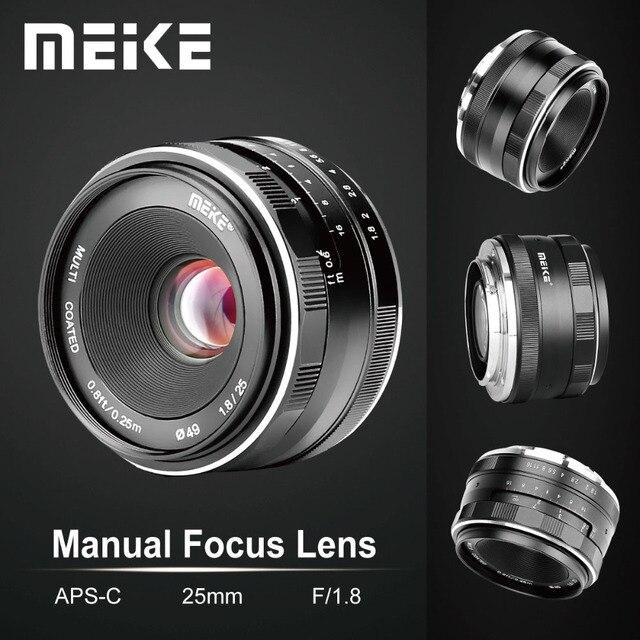 Đế Pin Meike 25 Mm F1.8 Góc Rộng Hướng Dẫn Sử Dụng Ống Kính APS C Cho Fuji X Núi/Dành Cho Sony E Mount/ cho Máy Panasonic Máy Ảnh Olympus A7 A7II A7RII
