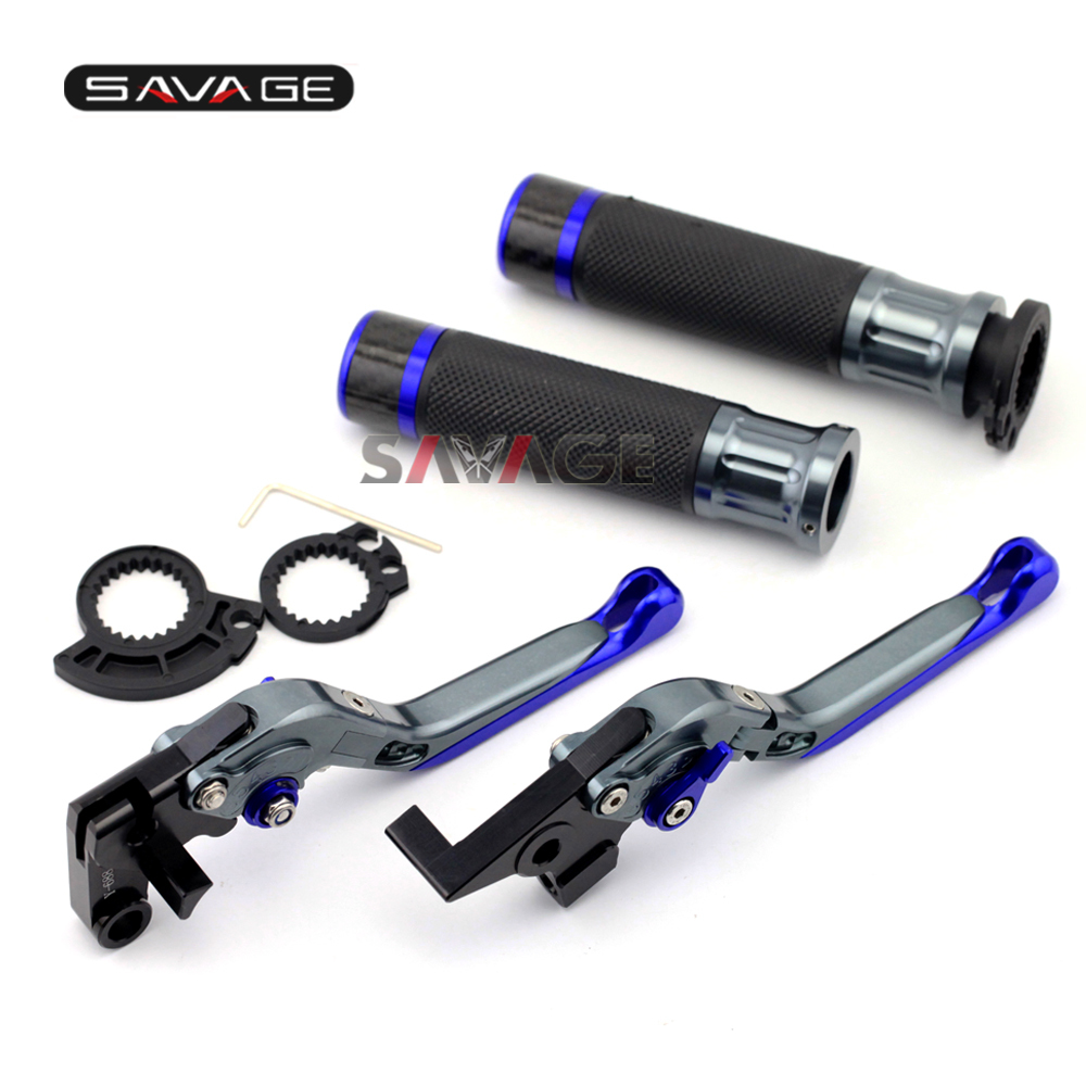 For SUZUKI GSR600/GSR750/GSX-S 750 Motorcycle Adjustable Folding Brake Clutch Levers Handlebar Hand Grips