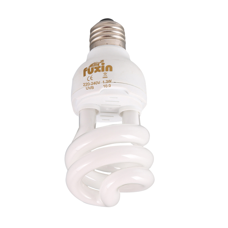 Amphibians And Reptiles Uv / Uvb Spiral Compressed Light 5.0-10.0 13 W Bulb Lizard Turtle Snake