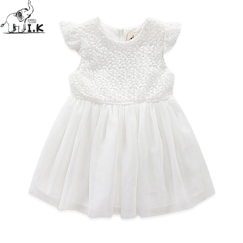 I.K Brand Girls Dress For Party And Wedding Dresses Lace Summer 2017 Bridesmaid Kids Costumes For Children Brand vestidos B1009 summer 2017 new girl dress baby princess dresses flower girls dresses for party and wedding kids children clothing 4 6 8 10 year