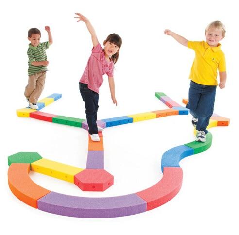 цена на 5M Irregular Balance Board Circle Large Size Sensory Integration Training Equipment Kid Sport Toy EVA Famous Brand High Quality
