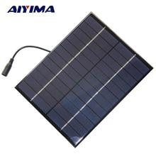 AIYIMA 5W 12V Solar Panel Polycrystalline 210*165 Solar Cell Battery Module Polycrystalline DIY Solar Power System +DC output