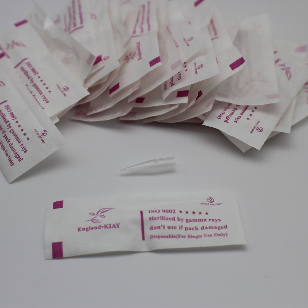 Image 4 - 1000pcs/lot 1RL Individually Packed Needle Tips Disposable Permanent Makeup Eyebrow Lip Needle Caps For Sunshine Tattoo Machine-in Tattoo Tips from Beauty & Health