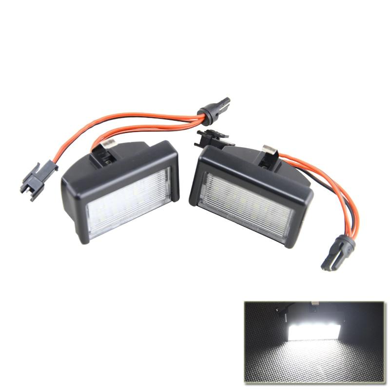 Прямая посадка бенз w164 мл 2009-2011 замените OEM#A4528200056 Белый LED номерной знак лампы ошибки Бесплатная стайлинга автомобилей