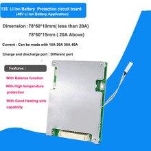 Chất lượng cao 48 V 13 S lithium ion pin BMS và 54.6 V cho xe đạp điện pin lithium với 30A 20A 40A xả hiện tại