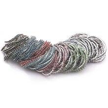 100 шт/партия многоцветный полностью ювелирные кристаллы в один ряд эластичные браслеты для женщин