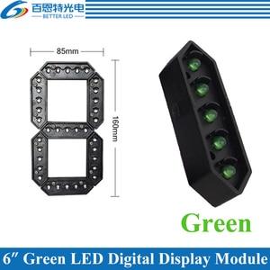 "Image 1 - 4 יח\חבילה 6 ""ירוק צבע חיצוני 7 שבעה מגזר LED דיגיטלי מספר מודול עבור גז מחיר LED תצוגת מודול"