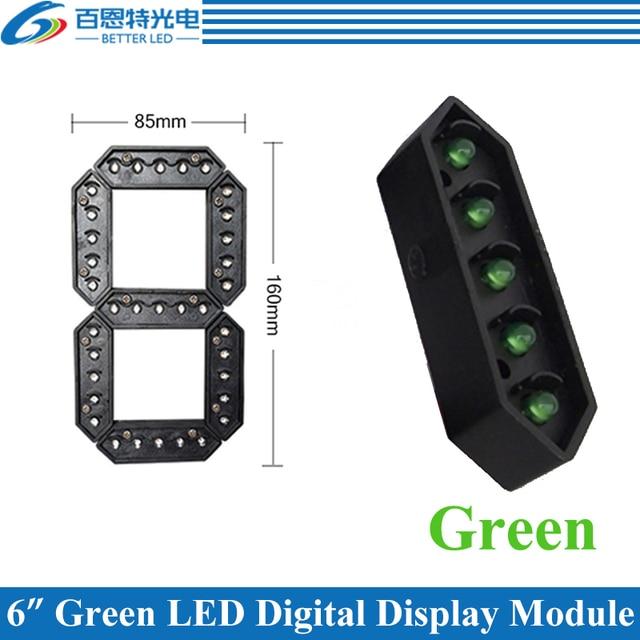 """4 pz/lotto 6 """"Colore Verde Outdoor 7 Sette Segmenti LED Digitale Numero di Modulo per il Prezzo del Gas Display A LED modulo"""