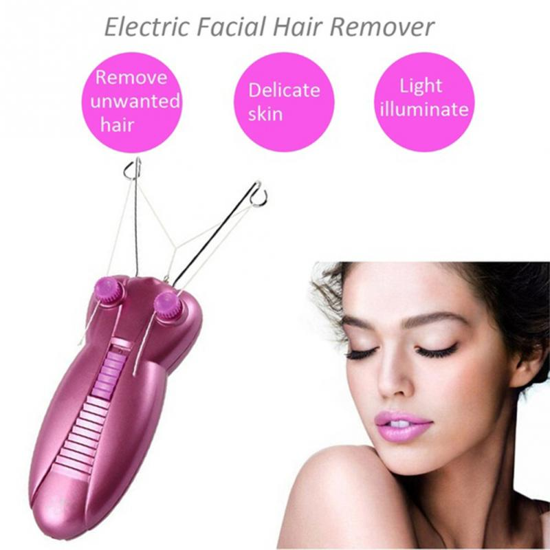 Women Electric Body Face Facial Cotton Thread Epilator Hair Remover Defeatherer electric women face hair removal tools body face facial hair remover epilator for women cotton thread defeather epilator shaver