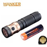 Manker E14 II 2200 Lum USB Rechargeable 18650 Flashlight W/ 4x CREE XPG3 LED / 4x Nichia 219C LED High Drain 18650 Battery Torch