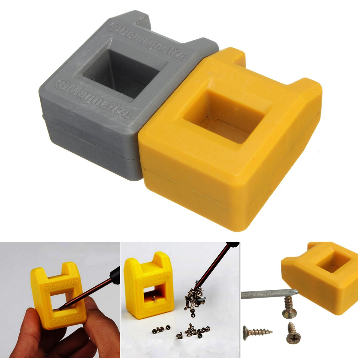 1PC 2 Color Magnetizer Demagnetizer Screwdriver Tips Screw Driver Magnetic Tool Best Price orange 5mm hole dia screwdriver bit magnetizer demagnetizer ring 2 pcs
