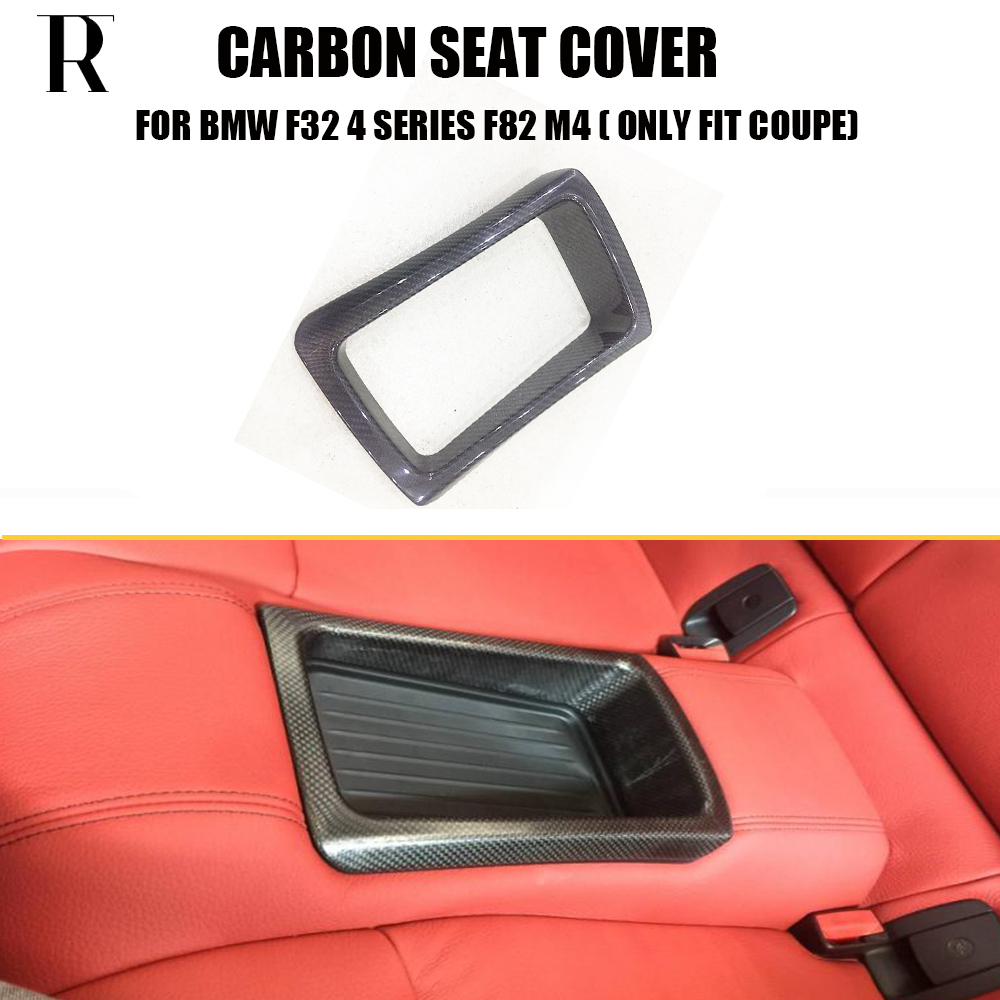 F32 F82 M4 Carbon Fiber Rear Seat Storage Basket Cover Trim for BMW F32 4 Series Coupe F82 M4 Coupe ( can't fit F33 F36 F83 ) car front rear logo decoration cover ring trim hood emblem ring for 2013 2016 bmw 3 series 320li 328li 316 bmw 4 series m3 m4