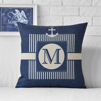 Blue Marine Anchor Cushion