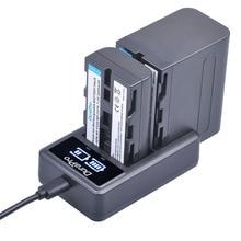 NP-F550 NP-F570 NP-F960 NP-F970 bateria Li-ion + LCD Dual Carregador para Sony NP F970 F570 F530 CCD-SC55 CCD-TRV8 DCR-TRV9 CCD-TR3