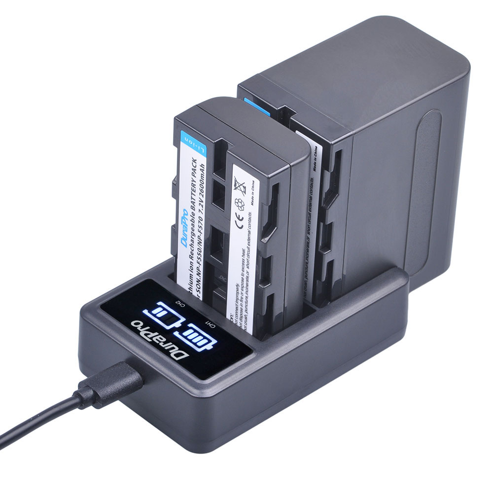 NP-F550 NP-F570 NP-F960 NP-F970 Li-ion battery + LCD Dual Charger for Sony NP F570 F970 F530 CCD-SC55 CCD-TRV8 DCR-TRV9 CCD-TR3 ...