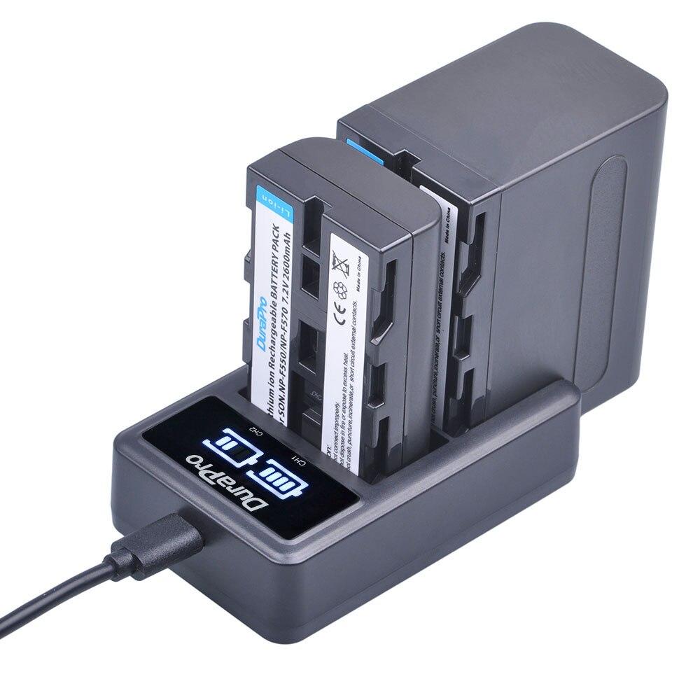 NP-F550 NP-F570 NP-F960 NP-F970 Li-ion batterie + LCD Double Chargeur pour Sony NP F570 F970 F530 CCD-SC55 CCD-TRV8 DCR-TRV9 CCD-TR3
