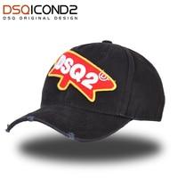 DSQICOND2 брендовые бейсболки для мужчин и женщин DSQ икона летняя черная бейсболка хип хоп Кепка с регулировкой размера Регулируемая Кость Casquette...