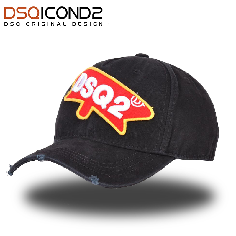 DSQICOND2 Branded   Baseball     Caps   Men Women DSQ ICON Summer Black Snapback Hat Hip Hop Fitted   Cap   Adjustable Bone Casquette gorras