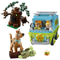 305pcs The Mystery Machine Scooby Doo Fred Shaggy Zombie Zeke Mini Toys Building Blocks Compatible With Lepines Brick Figures