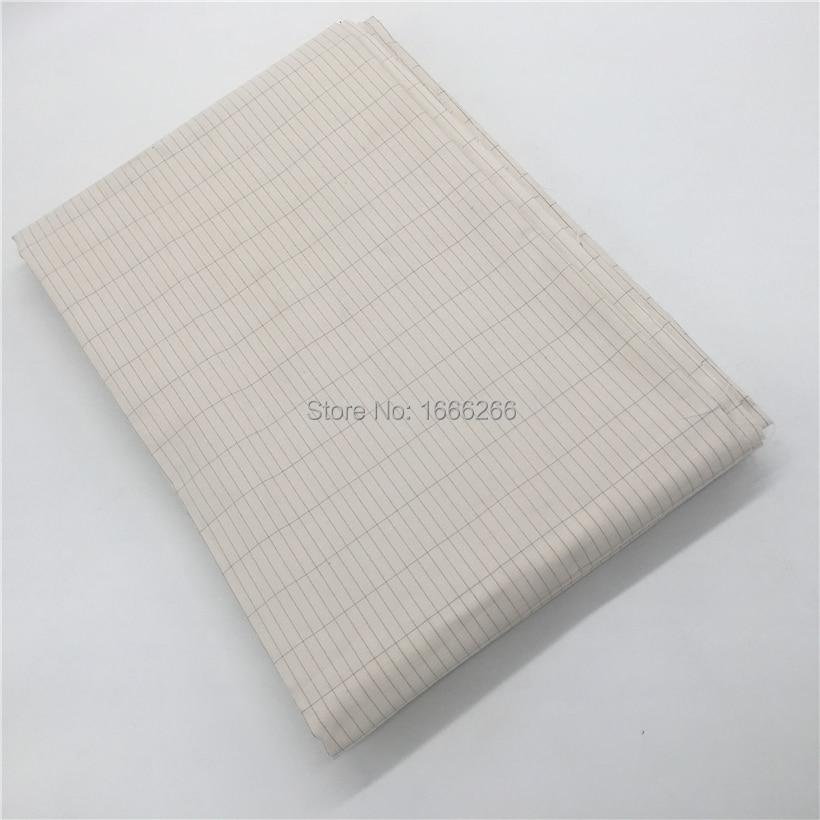 Silver Cotton Fabric 285cm Width Conductive Earth Fabric To Make Conductive Earth Bed Sheet