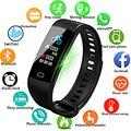 LIGE фитнес для женщин Смарт часы для мужчин Bluetooth сердечного ритма кровяное давление часы с шагомером светодиодный спортивный умный Браслет ...